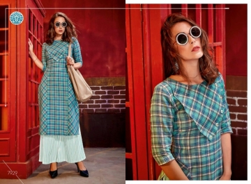 KRISHRIYAA FASHIONS FLAUNT VOL-2 DYED COTTON PARTY WEAR STITCHED KURTIS WHOLESALE PRICE (11)JPG