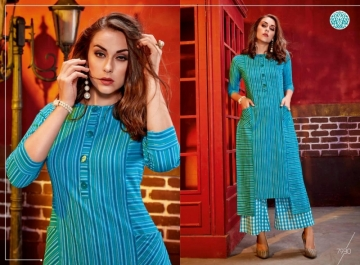KRISHRIYAA FASHIONS FLAUNT VOL-2 DYED COTTON PARTY WEAR STITCHED KURTIS WHOLESALE PRICE (1)JPG