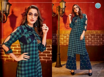KRISHRIYAA FASHIONS FLAUNT VOL-2 DYED COTTON PARTY WEAR STITCHED KURTIS WHOLESALE PRICE (3)JPG