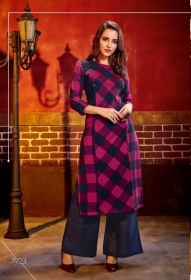 KRISHRIYAA FASHIONS FLAUNT VOL-2 DYED COTTON PARTY WEAR STITCHED KURTIS WHOLESALE PRICE (5)JPG