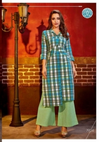 KRISHRIYAA FASHIONS FLAUNT VOL-2 DYED COTTON PARTY WEAR STITCHED KURTIS WHOLESALE PRICE (7)JPG