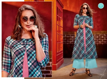 KRISHRIYAA FASHIONS FLAUNT VOL-2 DYED COTTON PARTY WEAR STITCHED KURTIS WHOLESALE PRICE (8)JPG