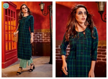 KRISHRIYAA FASHIONS FLAUNT VOL-2 DYED COTTON PARTY WEAR STITCHED KURTIS WHOLESALE PRICE (9)JPG