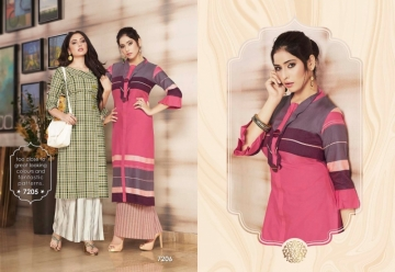 KRISHRIYAA FLAUNT COTTON KURTIS WITH PALAZZO WHOLESALE PRICE (3) JPG