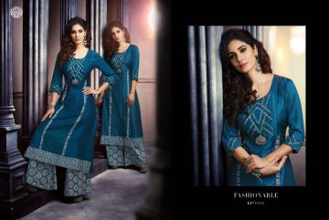 KRISHRIYAA SILK AFFAIR VOL 4 KURTI WITH PALAZZO CATALOG WHOLESALE SUPPLIER SURAT (9) JPG