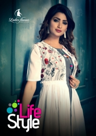 LADIES FLAVOUR LIFE STYLE SOUTH COTTON STRIPES STYLE LONG KURTIS WHOLESALE PRICE(01)JPG