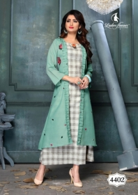 LADIES FLAVOUR LIFE STYLE SOUTH COTTON STRIPES STYLE LONG KURTIS WHOLESALE PRICE(4)JPG