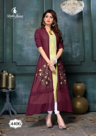 LADIES FLAVOUR LIFE STYLE SOUTH COTTON STRIPES STYLE LONG KURTIS WHOLESALE PRICE(5)JPG
