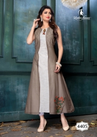 LADIES FLAVOUR LIFE STYLE SOUTH COTTON STRIPES STYLE LONG KURTIS WHOLESALE PRICE(6)JPG