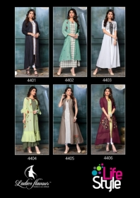 LADIES FLAVOUR LIFE STYLE SOUTH COTTON STRIPES STYLE LONG KURTIS WHOLESALE PRICE(8)JPG