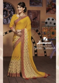 LAXMIPATI SAREES BOLLYWOOD CAFE CHIFFON GEORGETTE SAREE WHOLESALE SUPPLIER SURAT(11)JPG