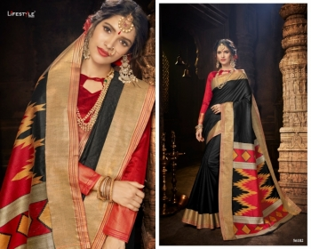 LIFESTYLE CELEBRATION MATKA SILK PARTY WEAR SAREES WHOLESALE SUPPLIER SURAT(01)JPG