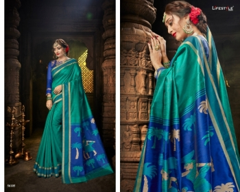 LIFESTYLE CELEBRATION MATKA SILK PARTY WEAR SAREES WHOLESALE SUPPLIER SURAT(3)JPG