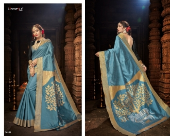 LIFESTYLE CELEBRATION MATKA SILK PARTY WEAR SAREES WHOLESALE SUPPLIER SURAT(6)JPG