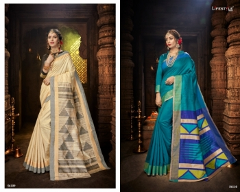 LIFESTYLE CELEBRATION MATKA SILK PARTY WEAR SAREES WHOLESALE SUPPLIER SURAT(7)JPG