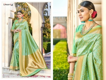 LIFESTYLE KAINAT HEAVY SILK TRADITIONAL FANCY SAREE WHOLESALE PRICE(10)JPG