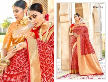 LIFESTYLE KAINAT HEAVY SILK TRADITIONAL FANCY SAREE WHOLESALE PRICE(4)JPG