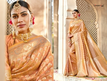 LIFESTYLE KAINAT HEAVY SILK TRADITIONAL FANCY SAREE WHOLESALE PRICE(5)JPG