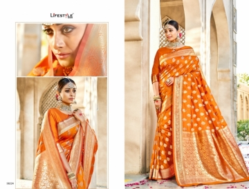 LIFESTYLE KAINAT HEAVY SILK TRADITIONAL FANCY SAREE WHOLESALE PRICE(7)JPG