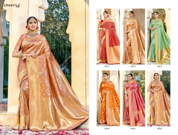 LIFESTYLE KAINAT HEAVY SILK TRADITIONAL FANCY SAREE WHOLESALE PRICE(8)JPG
