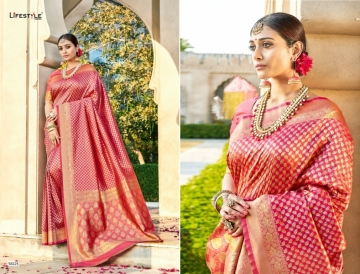 LIFESTYLE KAINAT HEAVY SILK TRADITIONAL FANCY SAREE WHOLESALE PRICE(9)JPG