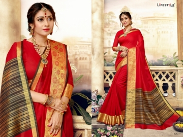 LIFESTYLE KHADI SILK VOL -16 COTTON SILK SAREES WHOLESALE SUPPLIER SURAT(01)JPG