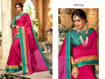 LIFESTYLE KHADI SILK VOL -16 COTTON SILK SAREES WHOLESALE SUPPLIER SURAT(10)JPG