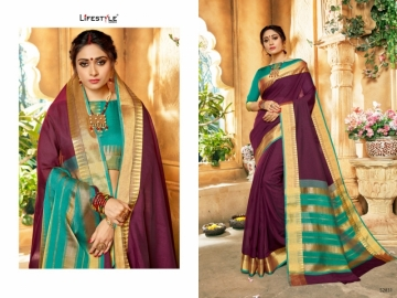 LIFESTYLE KHADI SILK VOL -16 COTTON SILK SAREES WHOLESALE SUPPLIER SURAT(12)JPG