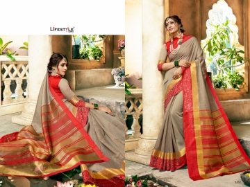LIFESTYLE KHADI SILK VOL -16 COTTON SILK SAREES WHOLESALE SUPPLIER SURAT(3)JPG