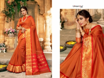 LIFESTYLE KHADI SILK VOL -16 COTTON SILK SAREES WHOLESALE SUPPLIER SURAT(5)JPG