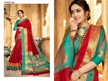 LIFESTYLE KHADI SILK VOL -16 COTTON SILK SAREES WHOLESALE SUPPLIER SURAT(9)JPG