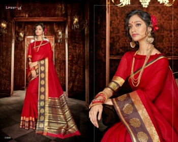 LIFESTYLE KHADI SILK VOL -18  FANCY DESIGNER PARTY WEAR SILK SAREES WHOLESALE PRICE(01)JPG