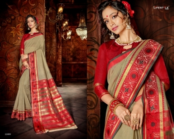 LIFESTYLE KHADI SILK VOL -18  FANCY DESIGNER PARTY WEAR SILK SAREES WHOLESALE PRICE(11)JPG