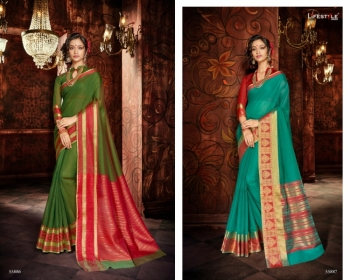 LIFESTYLE KHADI SILK VOL -18  FANCY DESIGNER PARTY WEAR SILK SAREES WHOLESALE PRICE(2)JPG