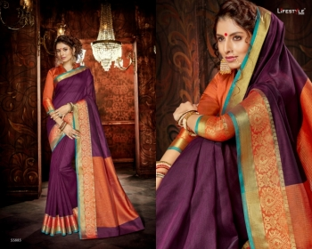 LIFESTYLE KHADI SILK VOL -18  FANCY DESIGNER PARTY WEAR SILK SAREES WHOLESALE PRICE(3)JPG