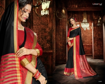 LIFESTYLE KHADI SILK VOL -18  FANCY DESIGNER PARTY WEAR SILK SAREES WHOLESALE PRICE(6)JPG