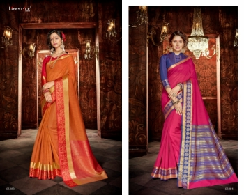 LIFESTYLE KHADI SILK VOL -18  FANCY DESIGNER PARTY WEAR SILK SAREES WHOLESALE PRICE(9)JPG