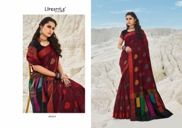 LIFESTYLE PRESENTS MOKSHA VOL-2 CHANDERI FANCY RICH PALLU SAREES (01) JPG