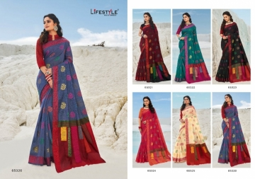 LIFESTYLE PRESENTS MOKSHA VOL-2 CHANDERI FANCY RICH PALLU SAREES (2) JPG