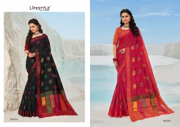 LIFESTYLE PRESENTS MOKSHA VOL-2 CHANDERI FANCY RICH PALLU SAREES (4) JPG