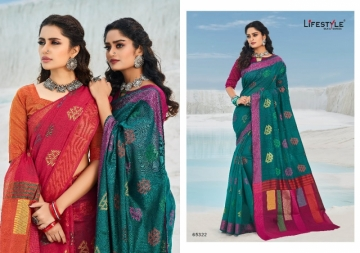 LIFESTYLE PRESENTS MOKSHA VOL-2 CHANDERI FANCY RICH PALLU SAREES (5) JPG
