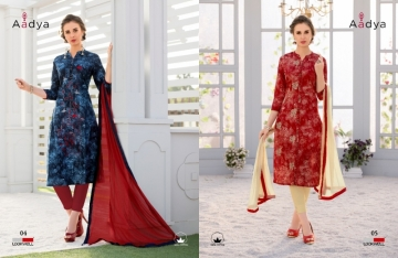 LOOKWELL AADYA COTTON PRINTED EMBROIDERY WORK SUITS (4) JPG