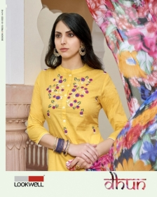LOOKWELL DHUN COTTON PRINT WITH WORK DRESS MATERIAL WHOLESALE PRICE(01)JPG