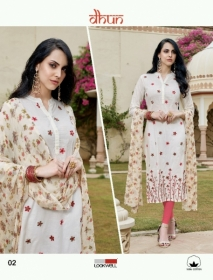 LOOKWELL DHUN COTTON PRINT WITH WORK DRESS MATERIAL WHOLESALE PRICE(3)JPG