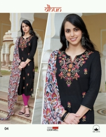 LOOKWELL DHUN COTTON PRINT WITH WORK DRESS MATERIAL WHOLESALE PRICE(6)JPG