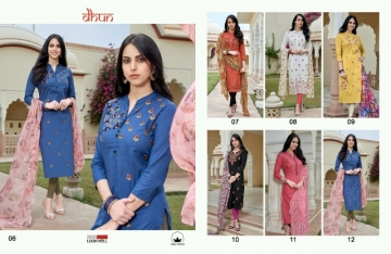 LOOKWELL DHUN COTTON PRINT WITH WORK DRESS MATERIAL WHOLESALE PRICE(8)JPG