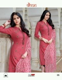 LOOKWELL DHUN COTTON PRINT WITH WORK DRESS MATERIAL WHOLESALE PRICE(5)JPG