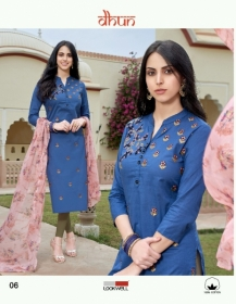 LOOKWELL DHUN COTTON PRINT WITH WORK DRESS MATERIAL WHOLESALE PRICE(7)JPG