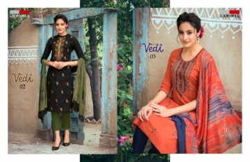 LOOKWELL PRESENTS VEDI FANCY WEAR EMBROIDERED SUITS WHOLESALE PRICE (3) JPG