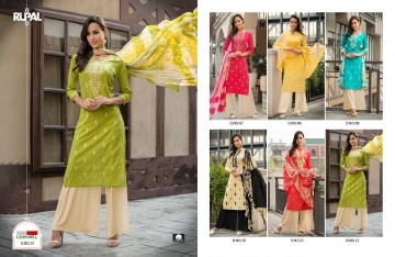 LOOKWELL RUPAL VOL 2 COTTON EMBROIDERY SUITS WITH PALLZO WHOLESALE PRICE (1)JPG
